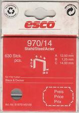 ESCO TACKERKLAMMERN 970 / 14 ---630 Stück für B & D
