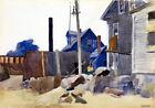 FRAMED CANVAS Art print giclee House on the Shore Edward Hopper