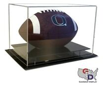 Full Size Football Display Case Acrylic Table Counter or Desk Top NFL NCAA UV