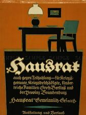 ADVERTISING CHARITY HAUSRAT VETERAN WAR WWI GERMANY FURNITURE POSTER PRINT LV579