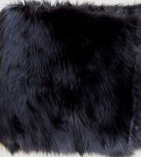 """Faux Fur Remnant - Luxurious  Black Fur - 12"""" X 65"""""""