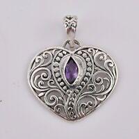 VINTAGE Carved Bone Bali Goddess Earrings 43x21mm 925 Sterling Silver #N12