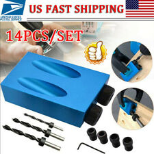 Pro Pocket Hole Jig Kit 850 Easy Tool System Woodworking Screw Drill Heavy Duty