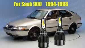 LED For Saab 900 1994-1998 Headlight Kit H4/9003 White CREE Bulbs HI/Low Beam
