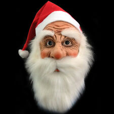 New Santa Claus Adult Halloween Face Mask Masquerade Costume Fancy Full Mask