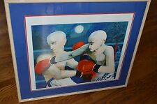 LIMITED SIGNED BRUNO RADICIONI BOXING LITHOGRAPH!!! FRAMED & MATTED!!!