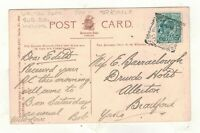 EDW.VII.1909 WALTON RD.SUB-LIVERPOOL. SQUARED CIRCLE POSTMARK.PLEASE SEE PICTURE