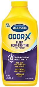Dr. Scholls ODOR-X Foot Powder 7oz ( 3 pack )