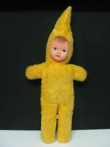 "Vintage Verna Pixie Doll 15"" Plush Toy Rubber Face 1960's Made in Australia"
