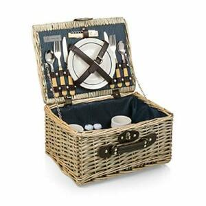 Picnic Time Catalina English Style Picnic Basket with Service for Two Dahlia ...
