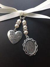 Ramo De Novia Oval foto marco encanto de memoria boda con granos de Swarovski Corazón