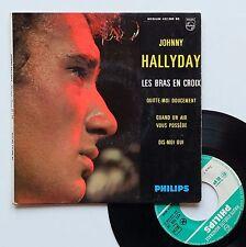 "EP Johnny Hallyday  ""Les bras en croix"""