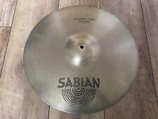 """Sabian AA 18"""" Medium Thin Crash Cymbal Great Condition Vintage"""