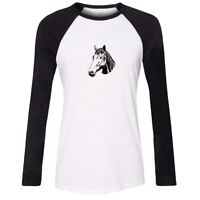 Animal Horse Design Womens Girls Casual T-Shirts Print Graphic Tee Shirt Tops