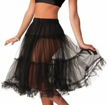 Flirtin' With The 50's Crinoline Skirt Tutu Women Black Costume Accessory New