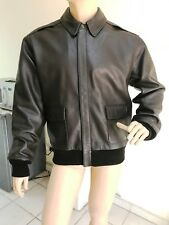 US A-2 AIR FORCE LEATHER FLIGHT JACKET SIZE L