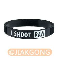 I SHOOT RAW Photography White Silicone bracelet Photographer's Wristband