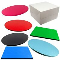 SINGLE Cake Board and White Box Pack- COLOURED - Thick Drum - Wedding & Birthday