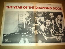 DAVID BOWIE Diamond Dogs 1974  UK Giant size Press ADVERT 16x24 inches