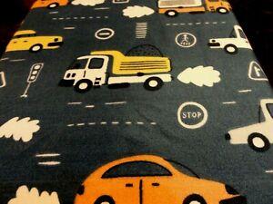 new Transportation Blue Vehicles Cars Bus Trucks  3 pc TWIN SHEETS Stop Light
