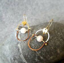 HANDMADE! Genuine Pearl Earrings 20113