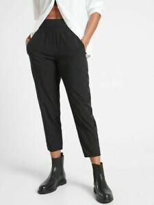 ATHLETA Nolita Slim Tapered Crop Pant Sz 18 Black Commute #980400