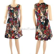 NEW PORTMANS SIGNATURE Front Zip Floral Dress Multi-coloured Size 10 with Tags