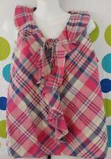 Lauren Jean Co. Ralph Lauren Womens XL Red Plaid Country Sleeveless Top
