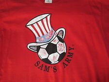 Sam's Army Soccer Football Men's Large T-Shirt USA Soccer Red
