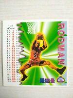 1999 DENNIS RODMAN Chicago Bulls NBA Basketball Trading Card Titan Sport