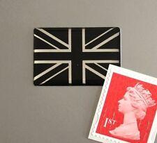 Union Jack Flag Sticker Domed Finish Black & Chrome 30mm