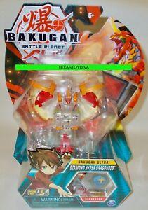 BAKUGAN Battle Planet DIAMOND HYPER DRAGONOID CHASE FIGURE Bakucores READ!!!