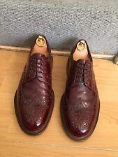Loake Dawson Burgundy Leather Brogue Shoe Uk 7.5, RRP£175