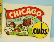 Vintage 1950's Chicago Cubs Goldfarb Novelty Decal