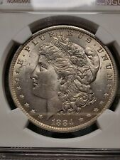More details for 1884 morgan dollar ms63 graded ngc