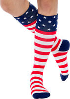 LISH American Flag Graduated 15-25mmHG Patriotic Compression Knee Socks