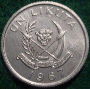 HI GRADE UNC 1967 1 LIKUTA  CONGO**SUPERB DETAILS**