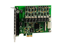 OpenVox A810E20 8 Port Analog PCI-E card base board + 2 FXS400 + 0 FXO400