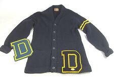 Vintage 1955 Drexel Varsity Football Letterman Sweater & Autographed Wood Plaque