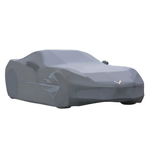 2014-2019 C7 Corvette Genuine GM Gray Outdoor Car Cover Stingray Logo 23142885