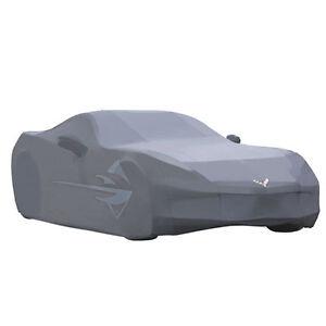 2014-2019 C7 Corvette Genuine GM Gray Outdoor Car Cover Stingray Logo 23142885
