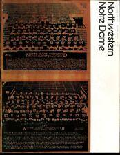 1971 Notre Dame v Northwestern Football Program 9/18/71 Ex 34582