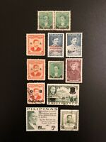 PHILIPPINES STAMPS - OVERPRINT OVPT SURCHARGED - LOT Of 12 UNUSED USED CANCELED