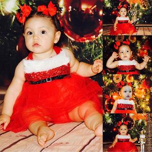 Baby Girl Christmas Santa Romper Dress fit 0-18 Months