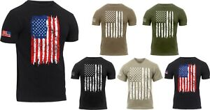 Mens US Flag Athletic T-Shirt Tactical Muscle Distressed American Patriotic Tee