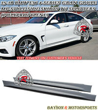 MP-Style Side Skirts + Splitters (PP) Fits 15-18 BMW F36 4dr 4-Series Gran Coupe