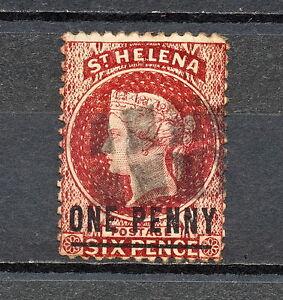 (NNAL 043) St Helena 1864 USED LINE 16 1/2 MICH 5AII