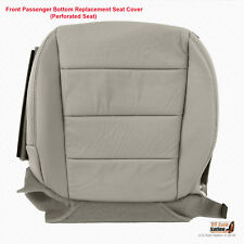 2008 Acura TL Type S Front PASSENGER Bottom Perforated Leather Seat Cover Gray