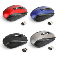 2.4GHZ 1600DPI Rosso,Nero,Blu,Grigio Scroll Wireless Mouse ottico senza fili IT