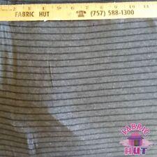 Jersey Knit Polyester Poly Spandex Grey & Black Stripe Fabric by the Yard